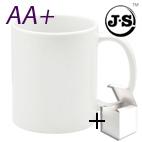 Чаша AA+, керамична, бяла с печат по снимка