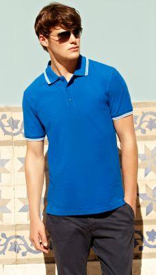Мъжки поло тениски PREMIUM TIPPED POLO - 63032 100% памук 180г
