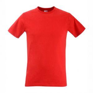 ID152 Вталена мъжка тениска  с тънко деколте  VALUEWEIGHT FITTED T - 61200 100% памук  165гр.
