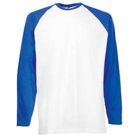 ID28 Двуцветна тениска с дълъг ръкав VALUEWEIGHT LONG SLEEVE BASEBALL T - 61028 100% памук  165гр.