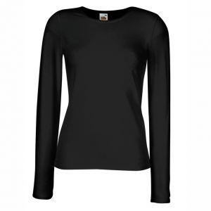 ID86 Дамска тениска с дълъг ръкав LADY-FIT LONG SLEEVE CREW NECK T - 61384 95% памук, 5% ликра  215гр.