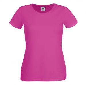 ID68 Дамска тениска с къс ръкав 95% памук, 5% полиестер LADY-FIT CREW NECK T - 61378 215гр