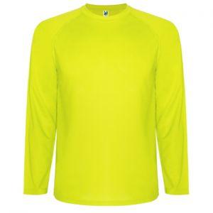 ID484 Спортна тениска с дълъг ръкав от дишаща материя  MONTECARLO LONG SLEEVE - CA0415  100% полиестер 145гр.