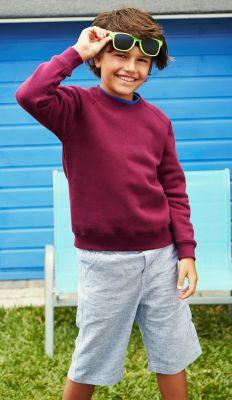 ID107 Детска  ватирана блуза KIDS CLASSIC RAGLAN SWEAT - 62039 80% памук, 20% полиестер 280г./м2