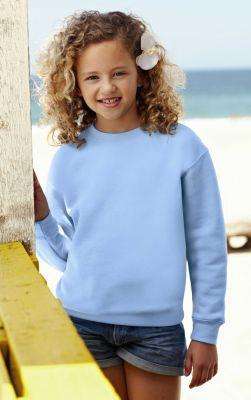 ID19 Ватирана блуза с дълъг ръкав KIDS CLASSIC SET-IN SWEAT - 62-041 80% памук, 20% полиестер 280гр/м2
