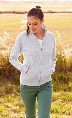 ID58 Дамска вталена спортна блуза  LADY-FIT PREMIUM SWEAT JACKET - 62116  70% памук, 30% полиестер 280гр/м2