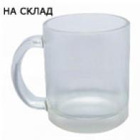 СТЪКЛЕНА МАТ чаша с  печат по снимка и лого