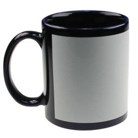 ЧЕРНА чаша с  печат по снимка и лого