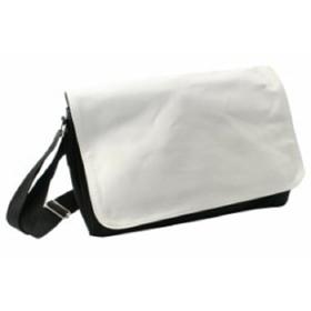Чанта за рамо Черна с бял капак за печат 40х25см