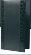 11х17см -Кожена папка за СМЕТКА  - СТИЛ ЧЕРНА
