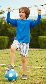 ID384 Детска тениска Valueweight T KIDS VALUEWEIGHT LONG SLEEVE T - 61007 с дълъг ръкав с ластик  100% памук 165гр.