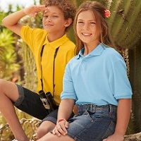 Детски поло тениск KIDS POLO - 63417 180гр 35% памук/65%полиестер