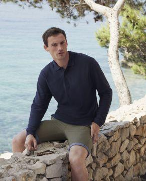 Мъжки поло тениски с дълъг ръкав PREMIUM LONG SLEEVE POLO - 63310 100% памук  180гр.
