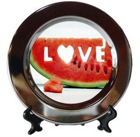 ДЕКОРАТИВНА сублимационна чиния, с печат по снимка и лого