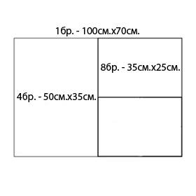 Гланцов картон 50х35см - 4 листа. За сублимационен печат