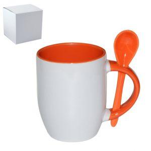 Цветна чаша с лъжичка и фотопечат по снимка
