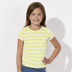 ID1041 Детска раирана тениска MINI STELLA LINES OUTLET - STTG929O  100% органичен памук   120гр./м2