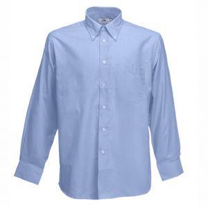 ID42 Класическа риза с джоб, дълъг ръкав и копчета на якатаLONG SLEEVE OXFORD SHIRT - 65114  70% памук, 30% полиестер 135гр