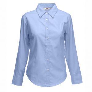 ID43  Дамска риза  с дълъг ръкав  LADY-FIT LONG SLEEVE OXFORD SHIRT - 65002 70% памук, 30% полиестер 135гр.