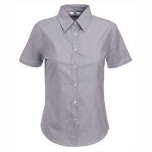 ID40 Дамски ризи с къс ръкав  LADY-FIT SHORT SLEEVE OXFORD SHIRT - 65000 70% памук, 30% полиестер 135гр.