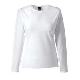 ID415 Дамска блуза с дълъг ръкав 95% памук, 5% ликра 215гр.