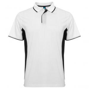 ID278 Двуцветна мъжка спортна тениска поло тип лакоста MONTMELO - PO0421 100% полиестер 150гр.