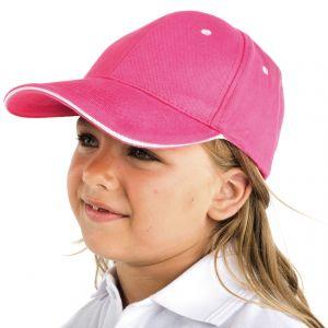 ID511 Детска шест панелна шапка  PANEL KIDS - GO7008C 100% памук  220гр