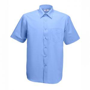 ID36 Елегантна официална мъжка риза SHORT SLEEVE POPLIN SHIRT - 65116 70% памук, 30% полиестер 120гр