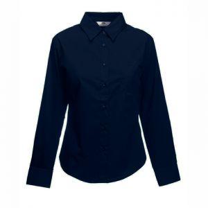 ID63 Елегантна официална дамска риза  LADY-FIT LONG SLEEVE POPLIN SHIRT - 65012 70% памук, 30% полиестер 120гр.