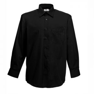 ID64 Елегантна официална мъжка риза LONG SLEEVE POPLIN SHIRT - 65118 70% памук, 30% полиестер 120гр.