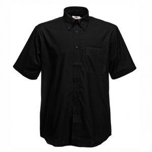 ID41 Класическа риза с джоб, къс ръкав и копчета на яката SHORT SLEEVE OXFORD SHIRT - 65112 70% памук, 30% полиестер  135гр.