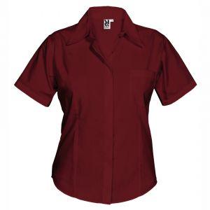 ID335 Елегантна дамска риза Poplin, с къс ръкав и вталена кройка SHORT SLEEVE SHIRT SOFIA - CM5061 35% памук, 65% полиестер 130гр.
